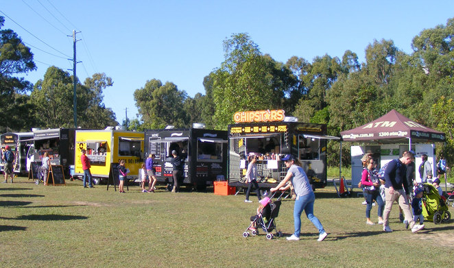 Food trucks at the Green Heart Fair