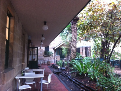 Hangout Café is located in the leafy surrounds of National Art School