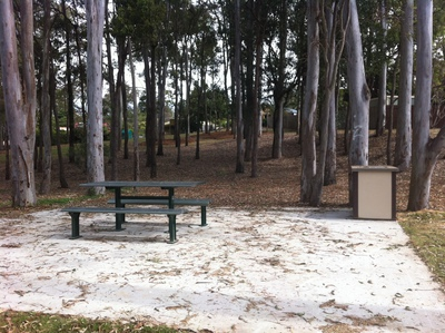 Seating and BBQ facilities