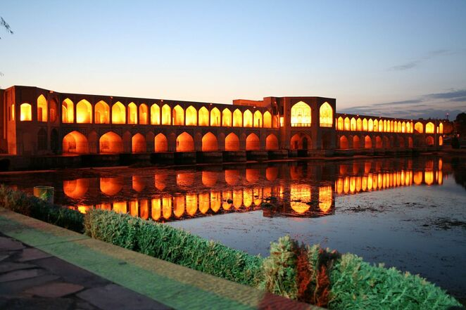 Khaju Bridge,Isfahan, Iran
