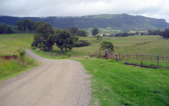 The alternative route from Boonah to Killarney is four wheel drive only