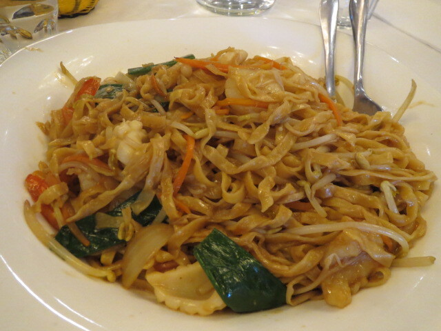 Kingdom Chinese Restaurant, Fried Seafood E-Mein Noodles, Adelaide