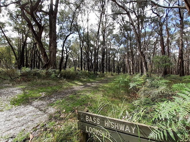 Lookout for signs, The Gurdies Reserve