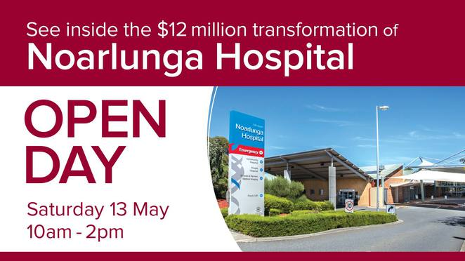 Noarlunga hospital, community, transforming health, day surgery, open day, facilities, surgical services, renal dialysis, theatre, sausage, face painting, ambulance, health care