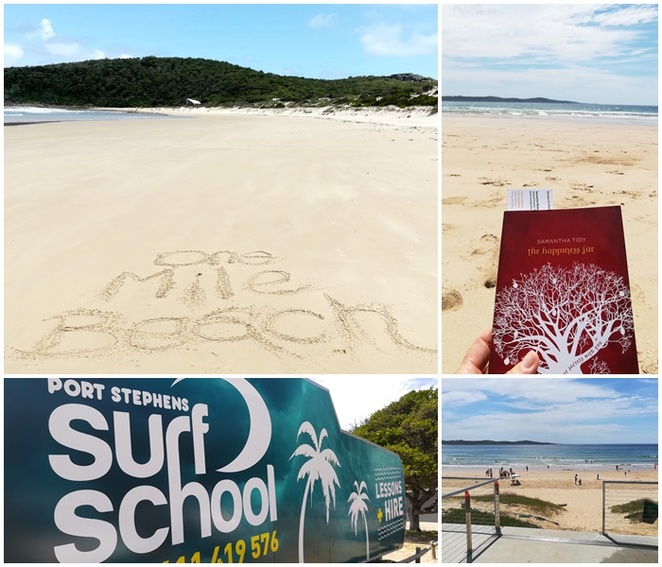 one mile beach, port stephens surf school, surfing lessons, beaches, port stephens, one mile beach, nelson bay, NSW, sam tidy, books, best books to read on the beach, NSW,