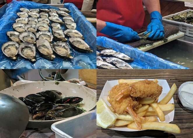 oysters, samtass, street food, adelaide, central market, seafood