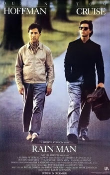 rain man, movie, film, poster, tom cruise, dustin hoffman,