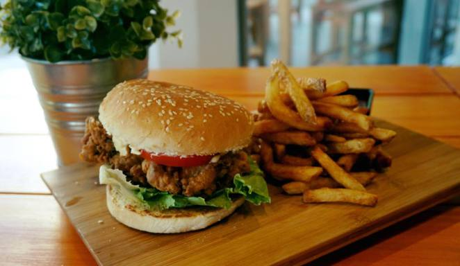 Japanese & Korean inspired burgers at the Seoul Bistro