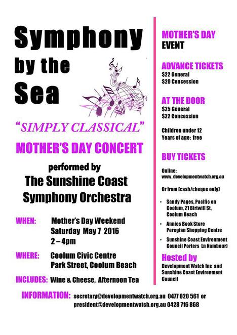 symphony by the sea, coolum, classical concert, sunshine coast, queensland, Sunshine coast symphony,
