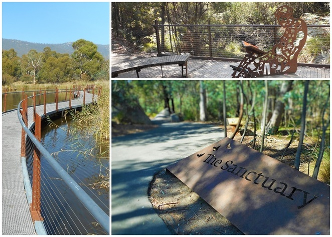 the sanctuary, canberra, tidbinbilla nature reserve, ACT, bushwalks, walking, short walks