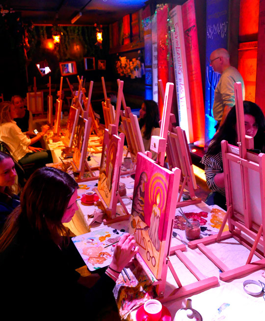 Tipples and Tints - an Art Class with a Difference