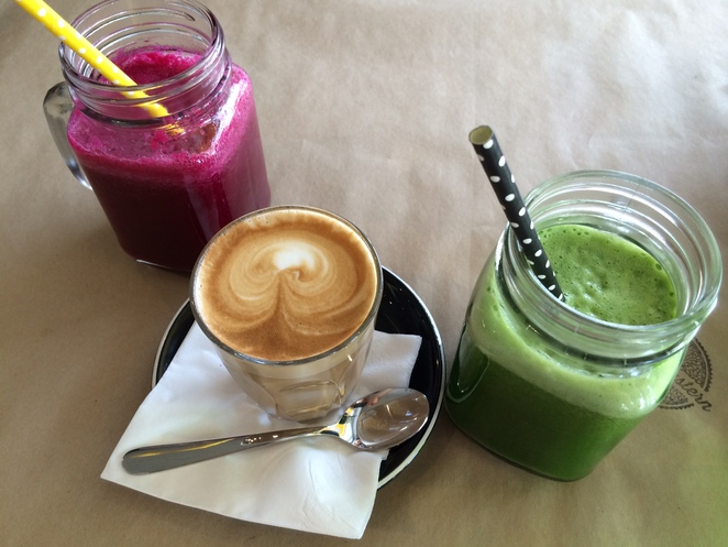 Juices and coffee