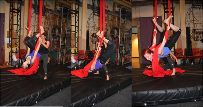 vulcana, Circus, Women, Acrobat, workshop, class, tissue, trapeze, lyra, rope, fitness