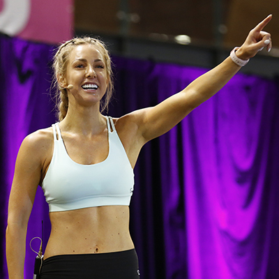 warm up, fitness, exercise, Ashy Bines, Fitness expo, health and wellness, fitness show