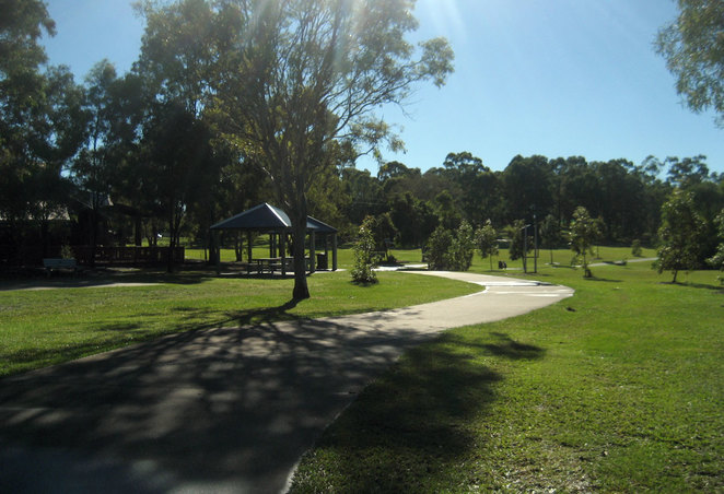 Barbecues and play area at the 7th Brigade Park