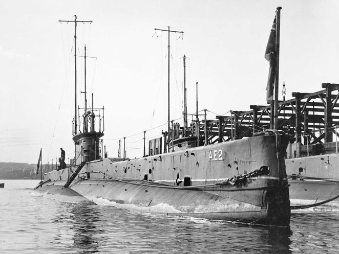 The AE2 and AE1 submarines