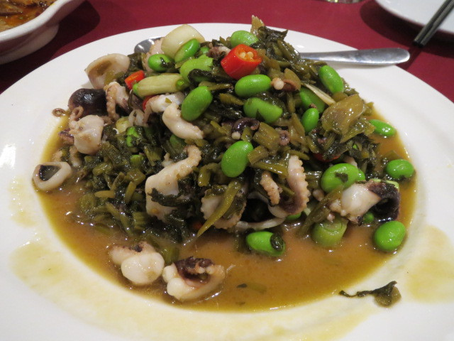 Ba Guo Bu Yi Chinese Restaurant, Cuttlefish with Peas and Pickled Vegetables, Adelaide