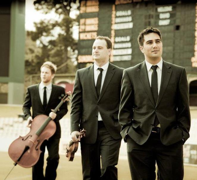 benaud trio, music, cricket, violin, melbourne, adelaide, cello, piano, concert