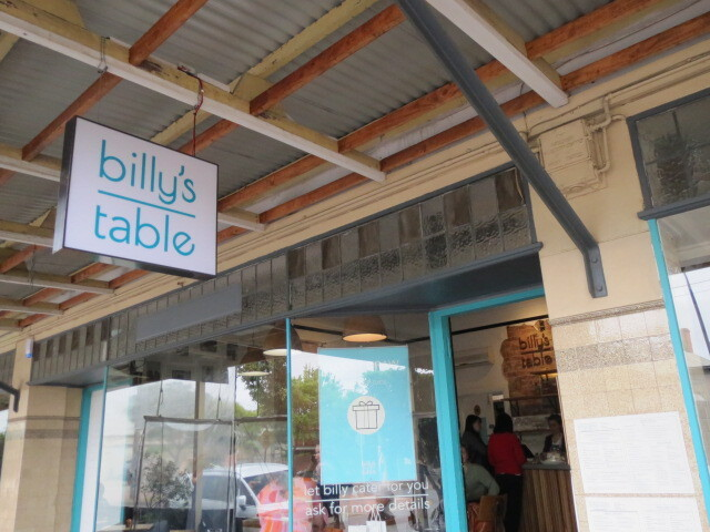 Billy's Table, Adelaide