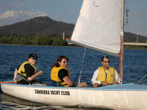 Canberra Yacht Club boat hire, lake burely griffin, canberra