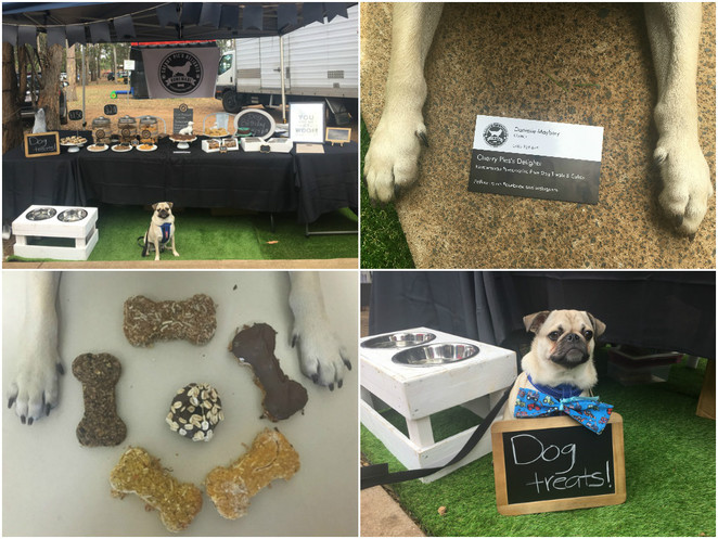 cherry pie's delights, dog treats, pet treats, homemade dog treats, homemade pet treats, gourmet pet treats, dog bakery, brisbane, dog friendly, carseldine markets, nundah markets, milton markets