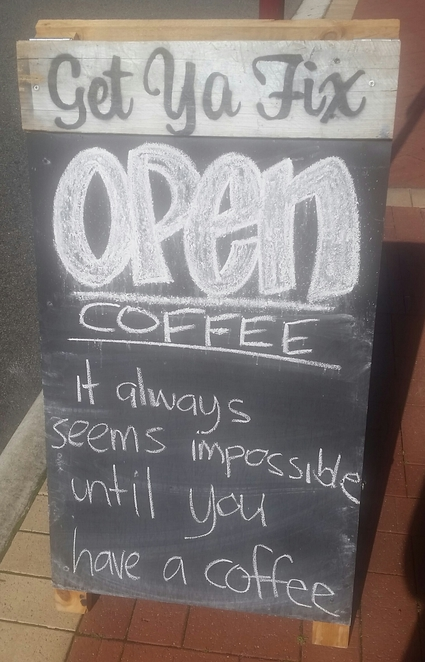 coffee cafe a-frame sign funny humour
