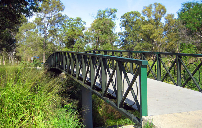Part of the Downfall Creek Bikeway