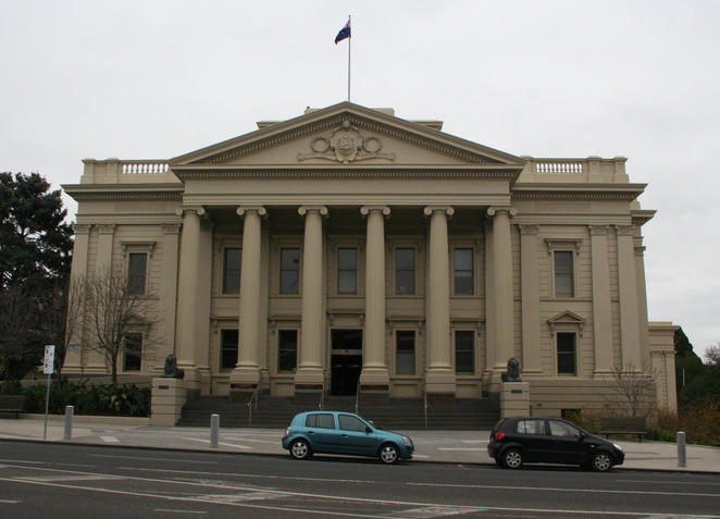 Front view, Geelong Town Hall