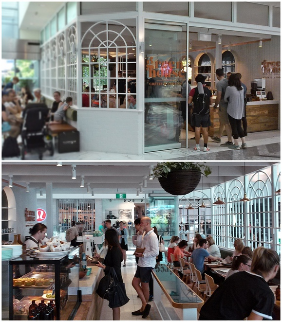 green house, canberra, ona, espresso room, canberra centre, new cafe, ACT, shopping centre, breakfast, lunch, best coffee