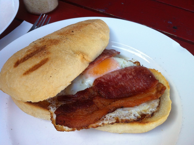 Hawker Street Cafe Bowden Adelaide Egg Bacon Sandwich