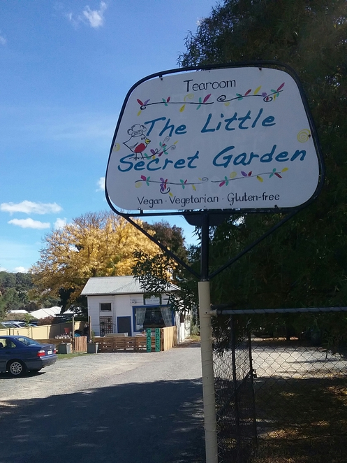 Little Secret Garden Cafe Sign