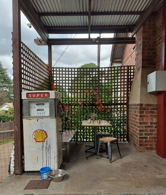 old petrol pump, water for dogs, The Patch Store,
