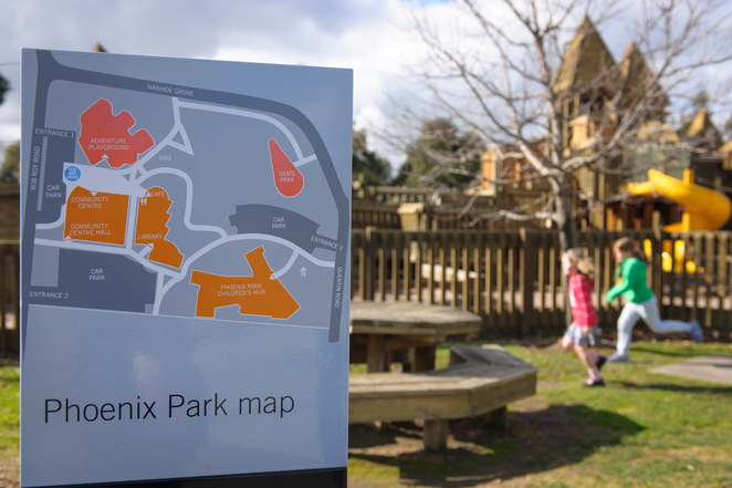 Phoenix Park, Chadstone, Malvern East, Stonnington, Top Parks for Kids Parties, Fort, Phoenix Park Community Hub, Phoenix Park Library