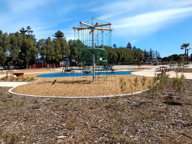 Roy Marten Park, Taperoo, dog park, playground, play, kids, dogs, park, free, climbing frame