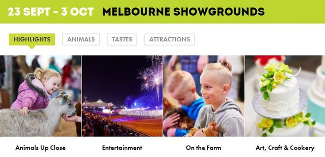 royal, melbourne,show,2017,kids,children,free, discounted,cheap,attractions