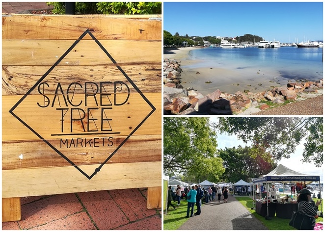sacred tree markets, nelson bay, nelson bay foreshore, best markets, port stephens, night markets, food trucks, designer markets, new, foreshore, NSW,