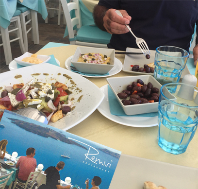 Santorini, greek islands, cruise greek islands, cruise with Princess Cruises, Mediterranean cruise holidays, restaurants in Santorini, greek food in greek islands, eating out in Santorini, Remvi Santorini, lunch in Santorini, restaurants in Santorini