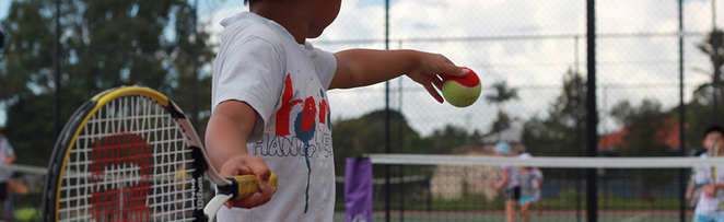 Coaching for all ages at the Shaw Park Tennis Centre