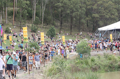 Some of the crowds you can expect at Woodford//By jemasmith