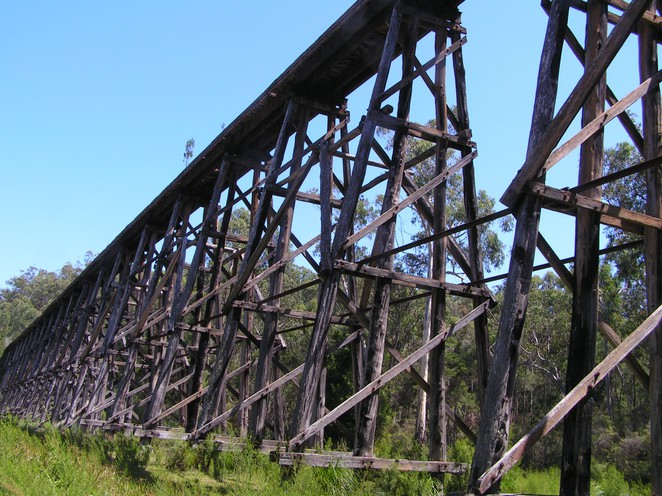 stony creek trestle bridge, east gippsland rail trail, nowa nowa, heritage rail, derailment, Lakes entrance,
