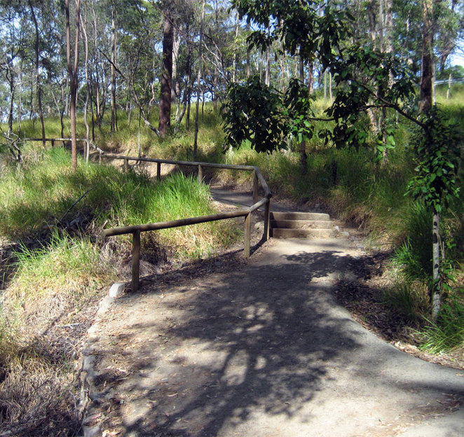 The Summit Track is well maintained and partly follows the creek