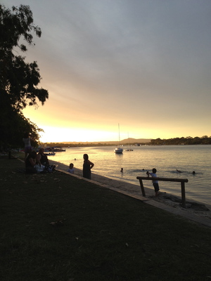 Sunset along the Noosa River