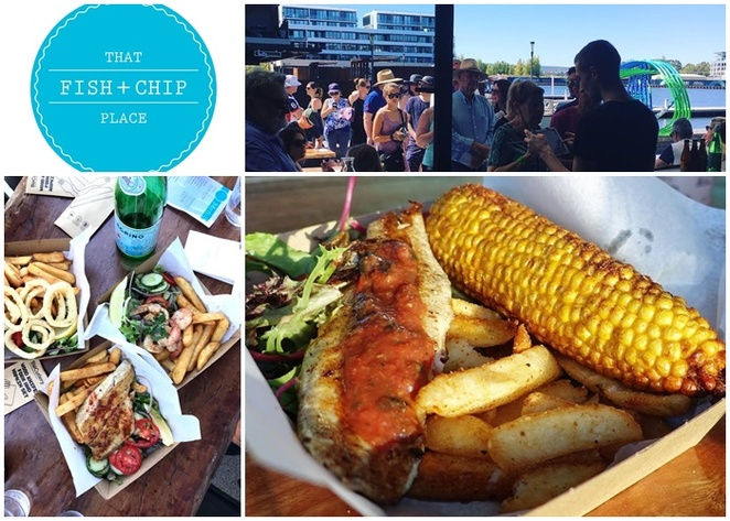 that fish and chip place, kingston foreshore, 38 espresso, canberra, family friendly, restaurants, cafes, fish and chips, ACT, 38 espresso, breakfast, lunch, dinner, kids, outdoors, by lake burley griffin,