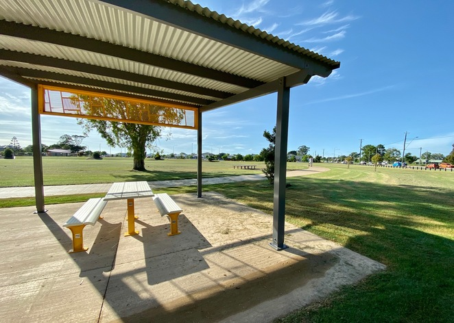 Shaded picnic area at Thornlands Community Park