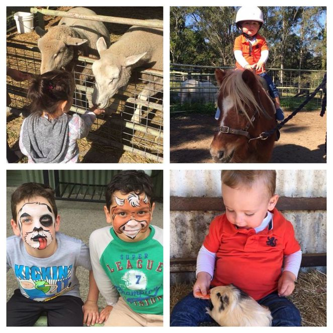Trevena Glen Farm, Open Day, Mount Samson, Feeding Animals,