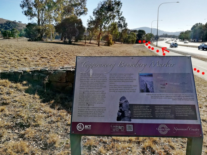 tuggeranong boundary wall, rock wall, greenway, murrumbidgee discovery trail, river, bushwalks, red rocks gorge, lakeside leisure centre, hikes, historical, views,