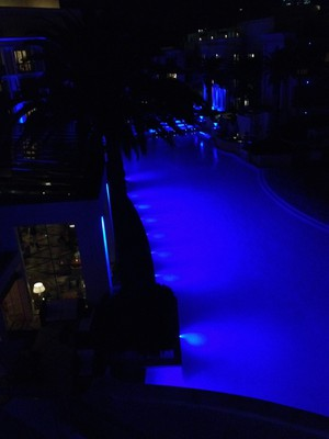 versace pool by night