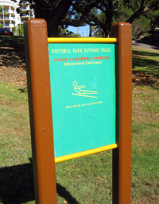 Victoria Park Fitness Trail Sign