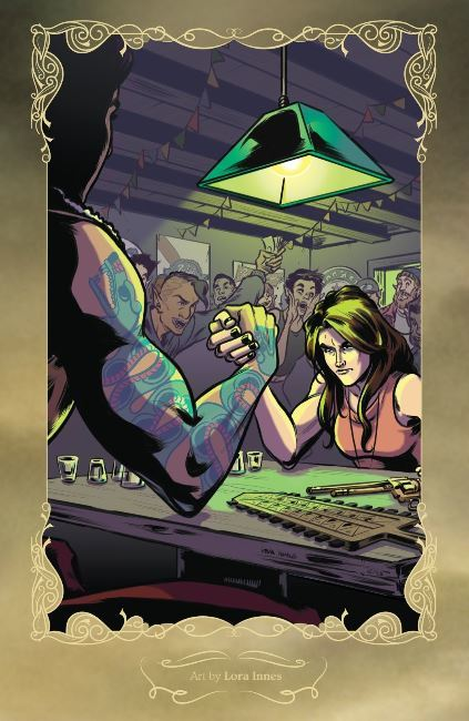Wynonna Earp, arm wrestle, comic, comic cover art, Wynonna Earp Homecoming, Wynonna and Valdez