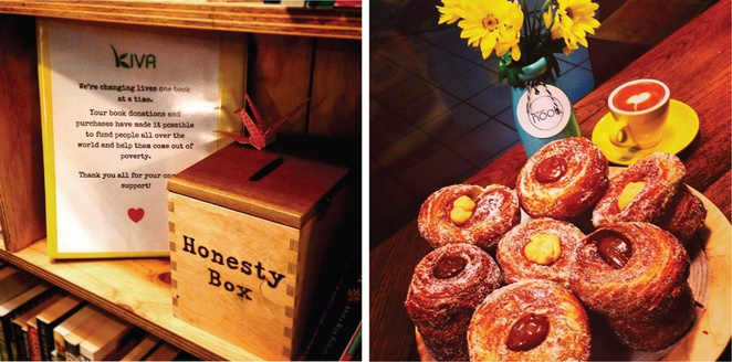 Abbots and Kinney Adelaide pastries cruffins Kiva donations